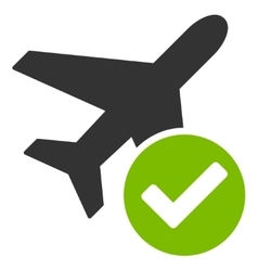 Aircraft ok icon vector