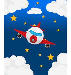 An airplane at the sky vector image vector image