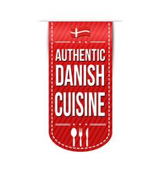 Authentic danish cuisine banner design vector