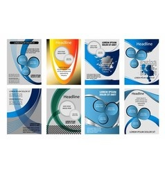 Blue background infographic information gra vector