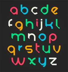 Bright alphabet letters vector