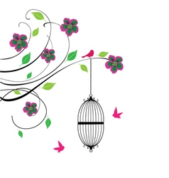 cage swirls vector image vector image