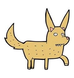 Comic cartoon wild dog vector