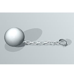 Convict ball and chain vector image vector image