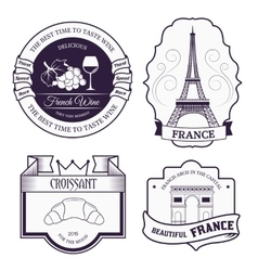 Country france set label template of emblem vector