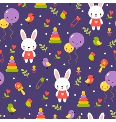 Cute baby pattern design vector