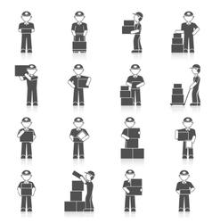 Delivery man icon vector