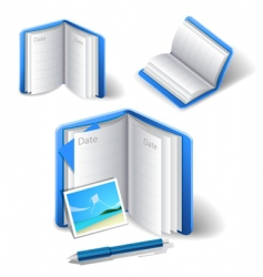 diary icon vector image vector image