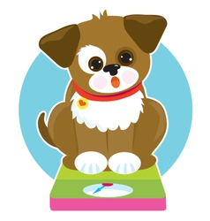 Fat Dog Scale vector image vector image
