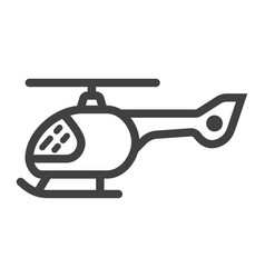 helicopter line icon transport and air vehicle vector image vector image