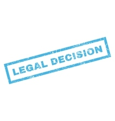 Legal decision rubber stamp vector