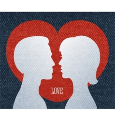 Love couple silhouettes vector image vector image