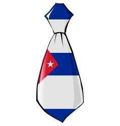 Necktie in national colours of cuba vector