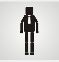 Office worker businessman leadership square vector