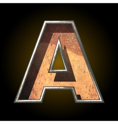 Old metal letter a vector