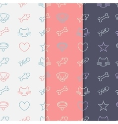 Pets pattern set vector image vector image