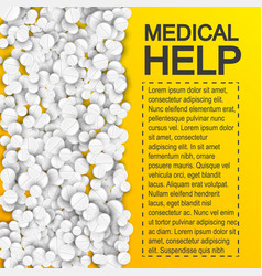 pharmaceutical medical help poster vector image