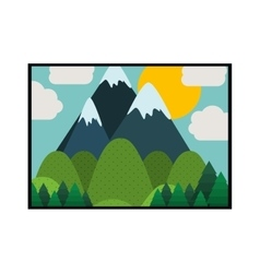 picture of landscape colorful with mountains vector image