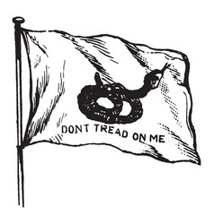 Rattlesnake flag of south carolina 1895 vintage vector