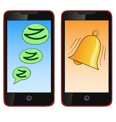 ringing cell phone vector image