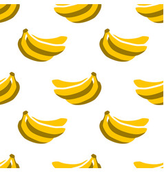 Seamless pattern with summer bananas vector