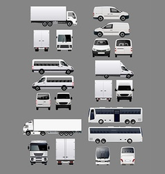 Set of Transportation Vehicles 1 vector image