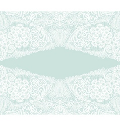 White lace Floral background ornamental flowers vector image