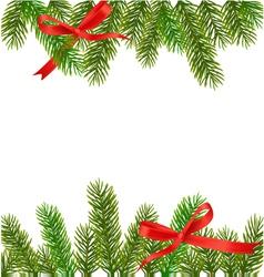 xmas tree branches vector image