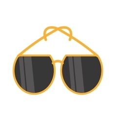 yellow sunglasses fashionable beach vector image