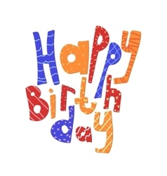 Lettering happy birthday congratulation card vector