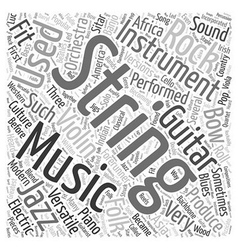 String musical instrument word cloud concept vector