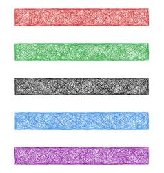Colored sketch web banner background set vector