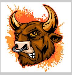 bull head mascot - vector image