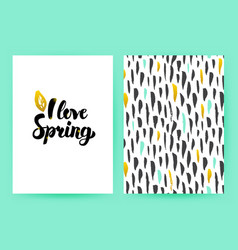 I love spring trendy poster vector