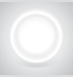 Glowing white circle with shadow vector