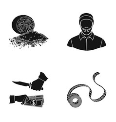 Bank business north and other web icon in black vector