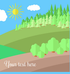 Clearing in the forest vector