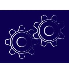 Symbol of the cogwheels vector image