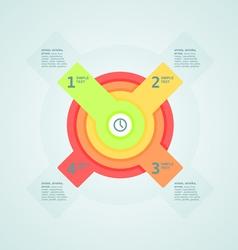 Infogaphics time vector