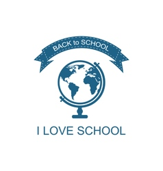 Back to school logo with globe vector