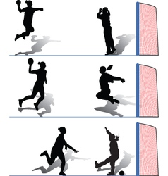 Handball women vector