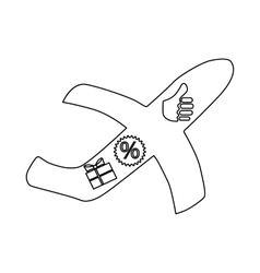 Bonuses for a flight icon outline style vector image