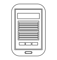Cellphone with button icon vector