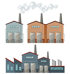 Factory buildings with chimneys vector