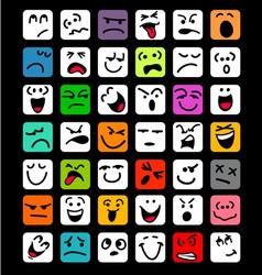 big set of cartoon facial expressions vector image