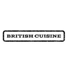 British cuisine watermark stamp vector