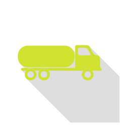 Car transports sign pear icon with flat style vector