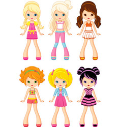 cartoon doll vector image vector image