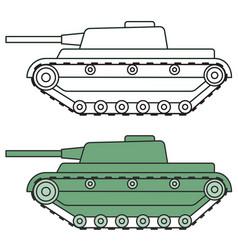 cartoon tank icon vector image vector image