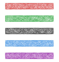 Colored sketch web banner background set vector image